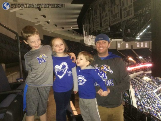 Me and the kids at the Memphis Tigers basketball game.