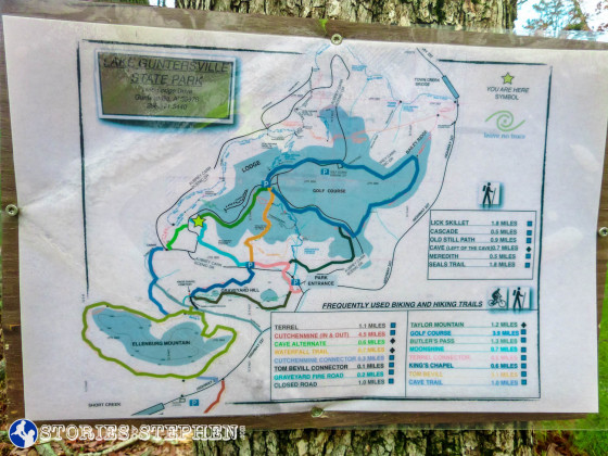 Map posted at the western end of the Butler Pass Trail.