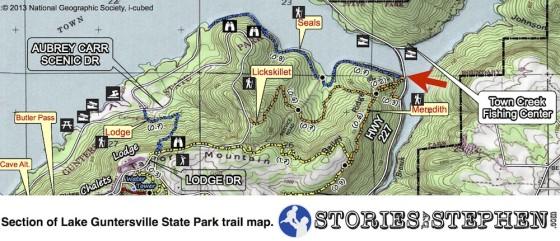 Lake Guntersville State Park Map - Seales Trail Head