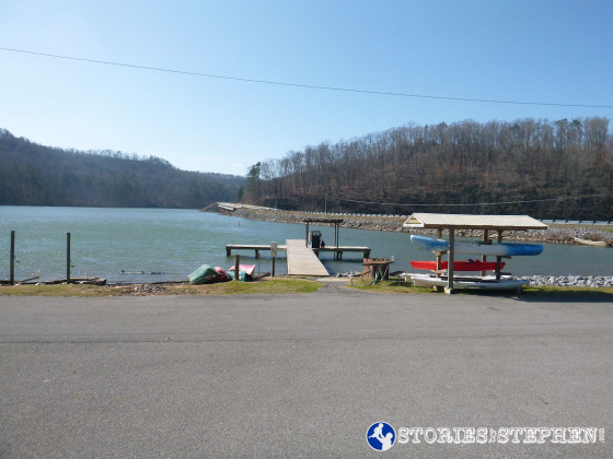 This dock at the Town Creek Fishing Center points directly at the Seales Trail head across the bridge.