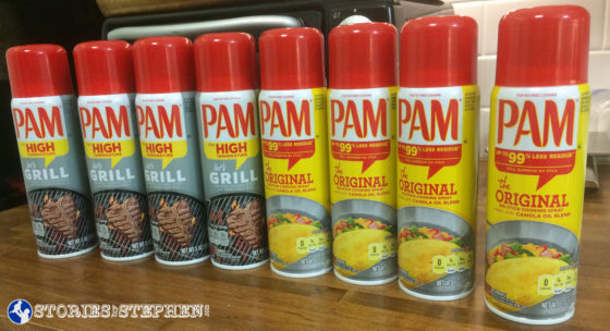 My pantry was all stocked up on Pam before I found out that Canola Oil is not a good oil.