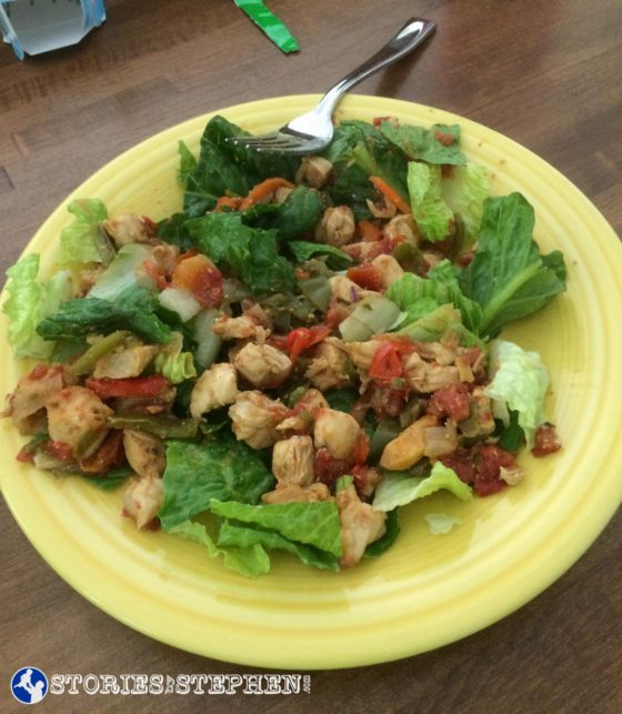 Fajita salad.