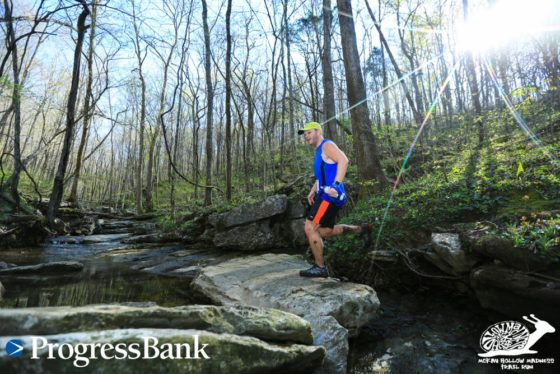 This is one of the many rocky creeks I crossed in my 1st trail race.