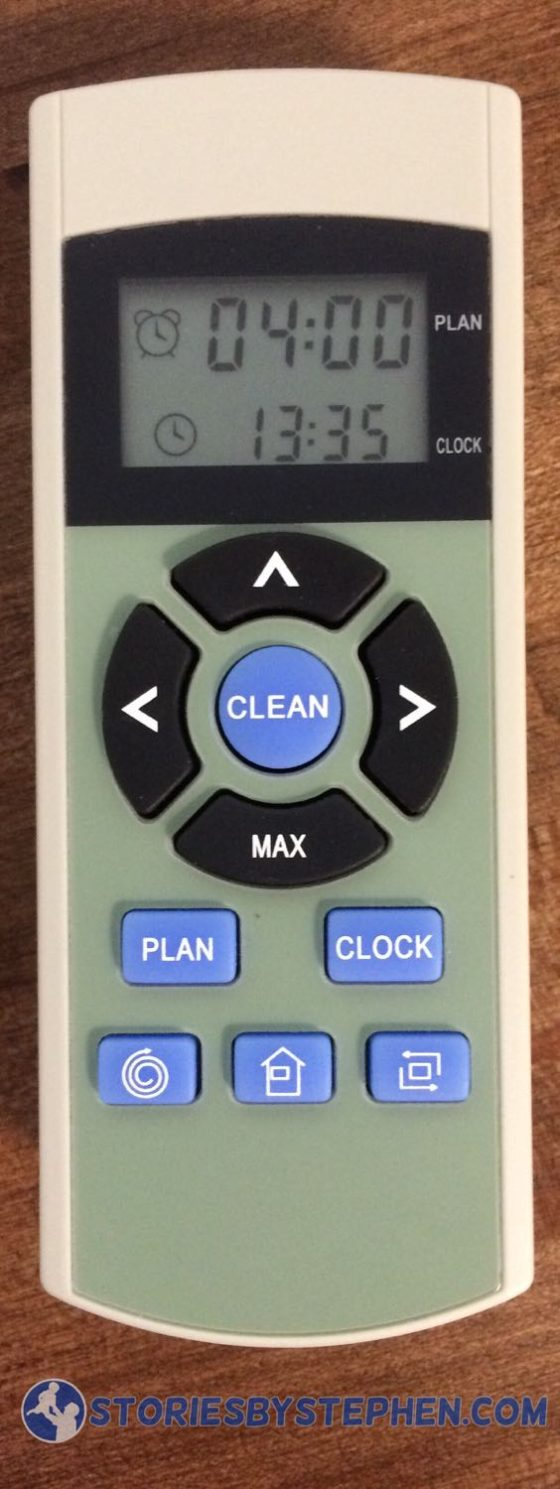 The remote control is simple and easy to use.