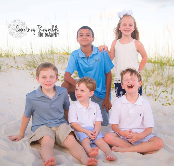 All the kids. Photo credit: Courtney Reynolds Photography
