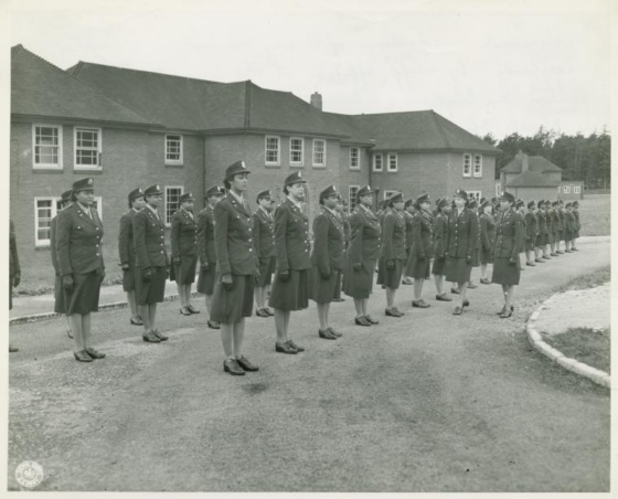 Army Nurses train at a medical facility in England during World War II. The United States Army sent nurses all over the country and all over the world during WWII.