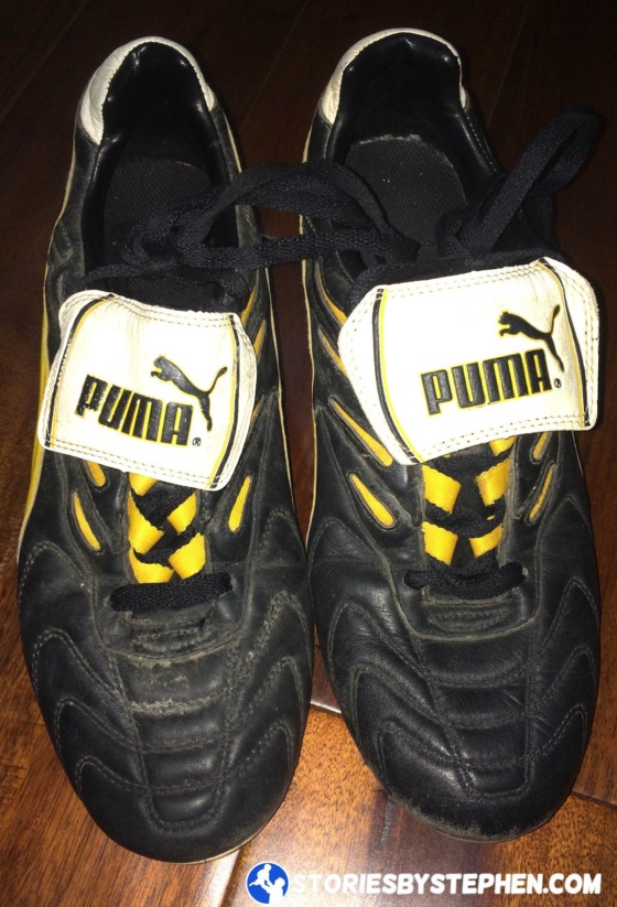 When I got my old Puma soccer cleats out of the closet, they had sat unused for 17 years. I thought they looked to be in pretty good shape still.